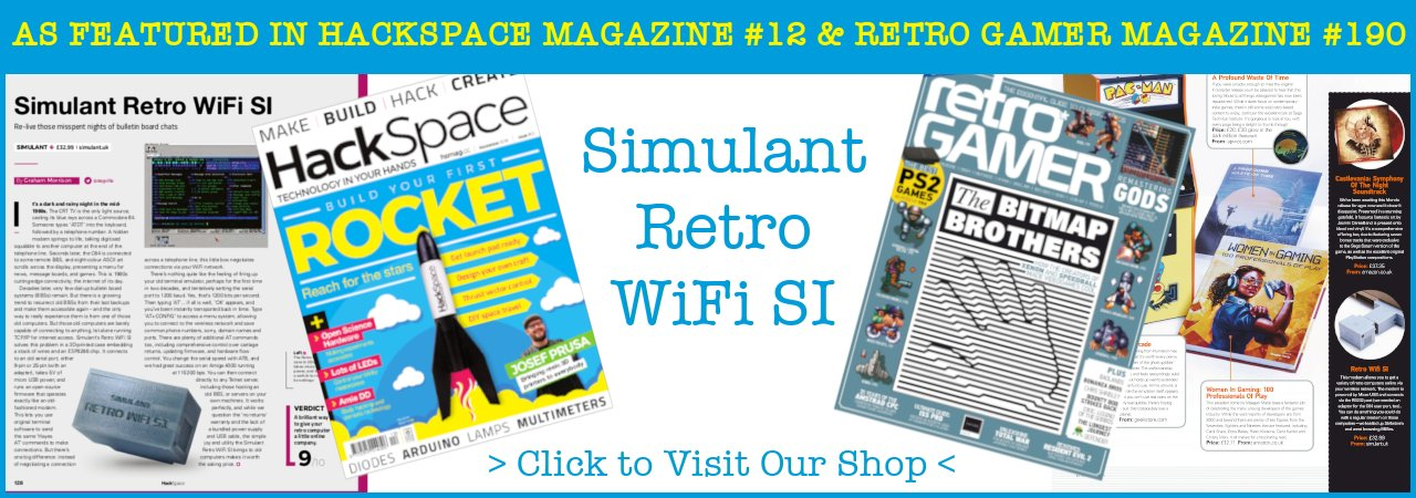 Retro Wifi SI as featured in HackSpace and Retro Gamer Magazine