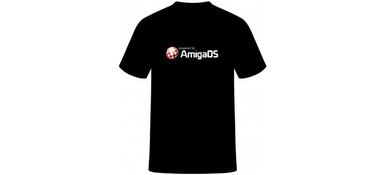 Powered by Amiga T-shirt - AmigaOS