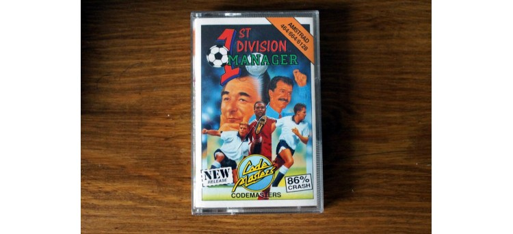 1st Division Manager - Amstrad CPC 464 664 6128 Code Masters - cassette game (1991)