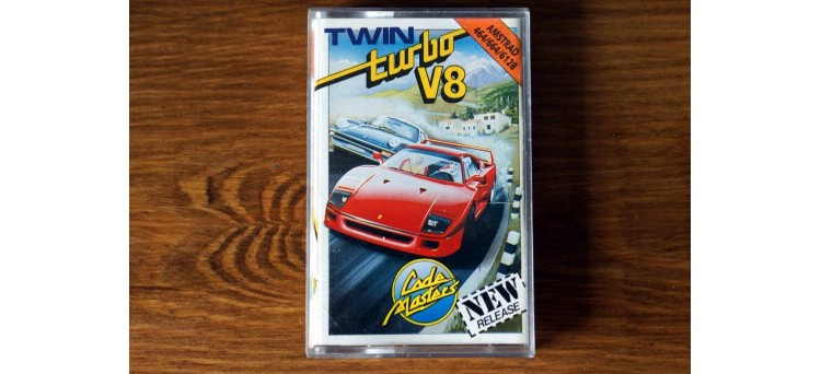 Twin Turbo V8 - Amstrad CPC 464 664 6128 Code Masters cassette game 1988