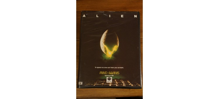 Alien 48k Sinclair Spectrum Game - boxed w/ instructions manual - by Mind Games