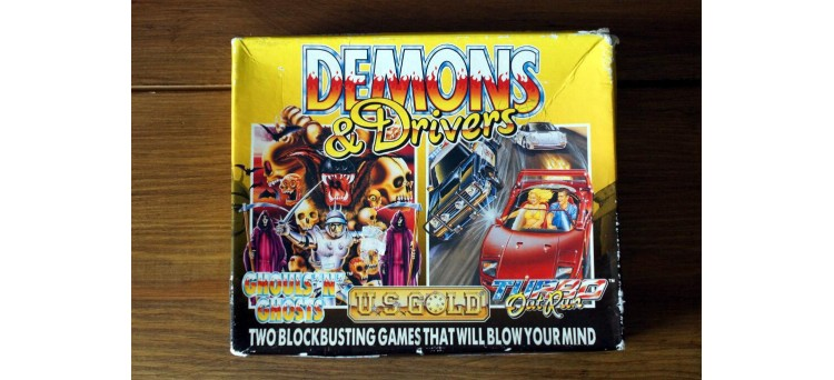 Demons and Drivers Sinclair Spectrum Cassette big box game twin pack (Capcom / Sega) - 1989