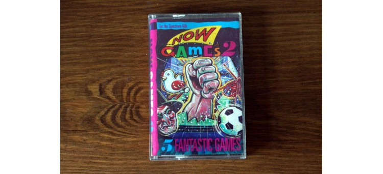 NOW GAMES 2 - Sinclair ZX Spectrum 48k - Virgin - 1985 - 5 games! Cassette TAPE