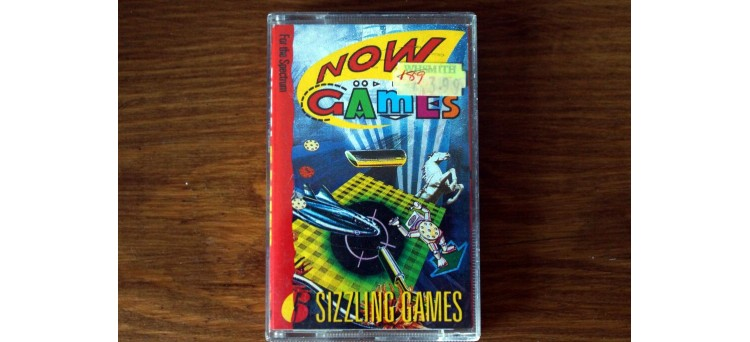 NOW GAMES - Sinclair ZX Spectrum 48k - Virgin - 1985 - 6 games! Cassette TAPE