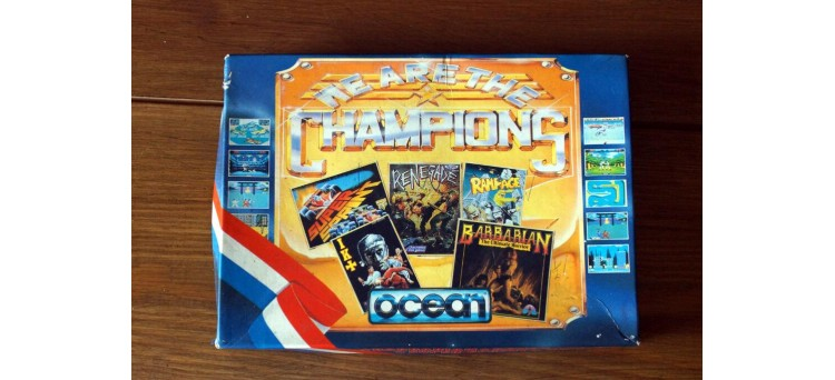 * WE ARE THE CHAMPIONS - 5 GAMES - Sinclair ZX Spectrum - Ocean - twin cassettes