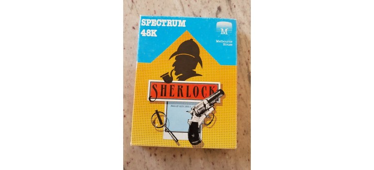Sherlock by Philip Mitchell for ZX Spectrum 48k text adventure tape cassette game - Melbourne House