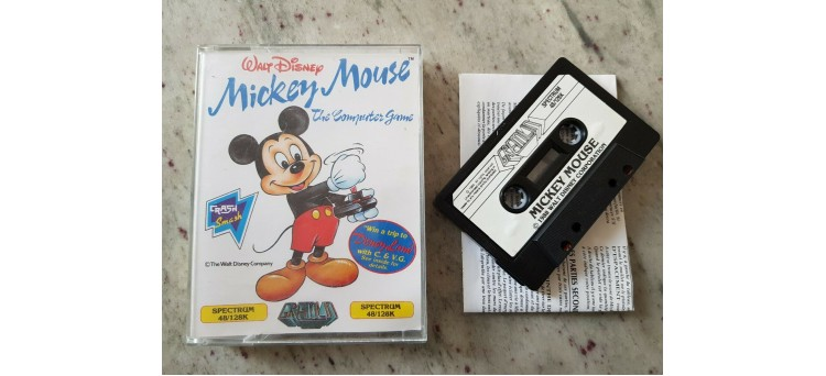"""Walt Disney Mickey Mouse """"The Computer Game"""" for Sinclair ZX Spectrum 48k/128k"""