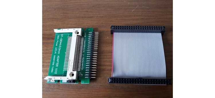 Commodore Amiga 600, 1200 IDE to Compact Flash Hard Drive Adaptor + IDE Cable