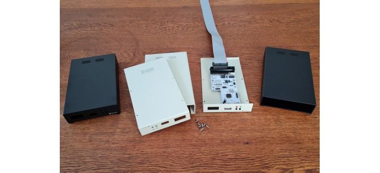 "SIMFDD35 Kit - External Floppy Disk Drive Enclosure (Metal Case for Gotek, OpenFlops PCB or original 3.5"" Floppy Drive)"