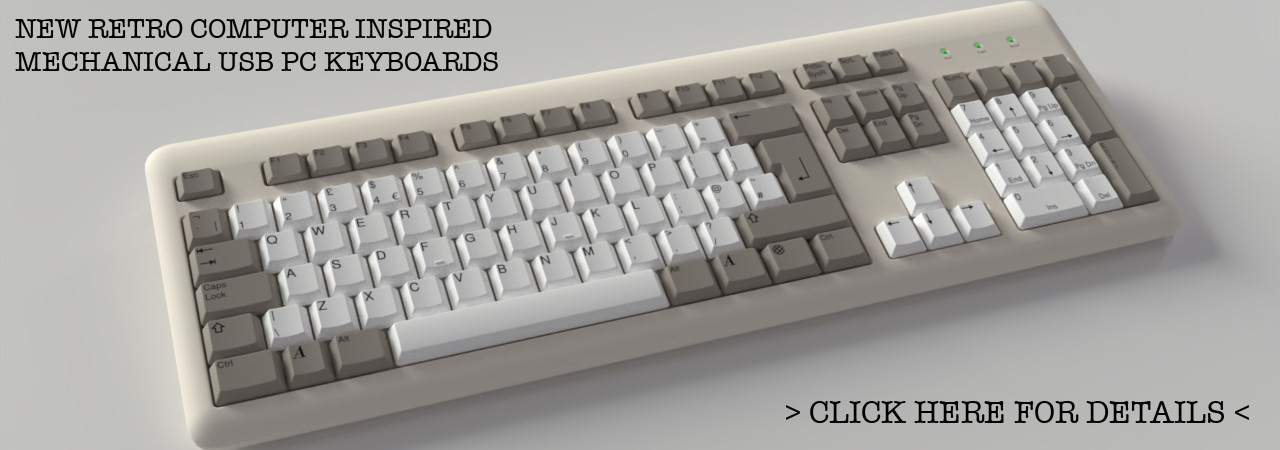 Commodore Amiga style mechanical usb keyboard